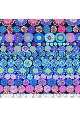 Kaffe Fassett Kaffe Collective 2019, Row Flowers in Blue, Fabric Half-Yards PWGP169
