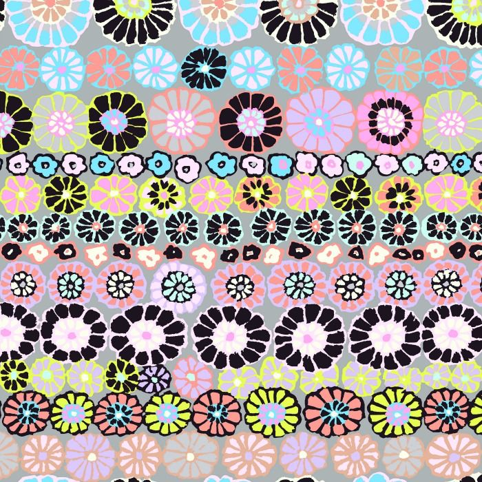 Kaffe Fassett Kaffe Collective, Row Flowers in Contrast, Fabric Half-Yards PWGP169