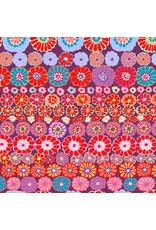 Kaffe Fassett Kaffe Collective 2019, Row Flowers in Red, Fabric Half-Yards PWGP169