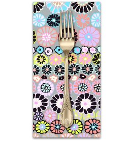 PD's Kaffe Fassett Collection Kaffe Collective, Row Flowers in Contrast, Dinner Napkin