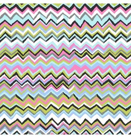 Kaffe Fassett Kaffe Collective, Zig Zag in Contrast, Fabric Half-Yards PWBM043