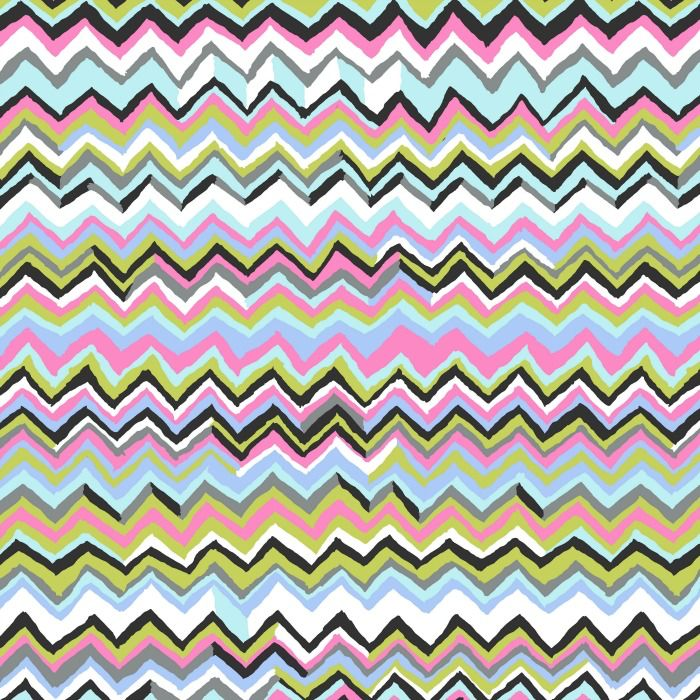 Kaffe Fassett Kaffe Collective 2019, Zig Zag in Contrast, Fabric Half-Yards PWBM043