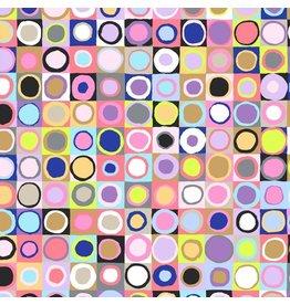 Kaffe Fassett Kaffe Collective 2019, Tiddlywinks in Contrast, Fabric Half-Yards PWGP171