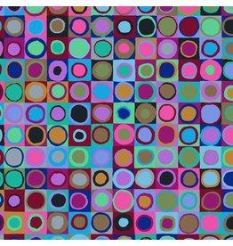 Kaffe Fassett Kaffe Collective 2019, Tiddlywinks in Blue, Fabric Half-Yards PWGP171