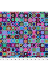 Kaffe Fassett Kaffe Collective 2019, Tiddlywinks in Blue, Fabric Half-Yards PWGP171