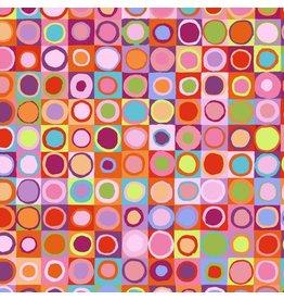 Kaffe Fassett Kaffe Collective 2019, Tiddlywinks in Red, Fabric Half-Yards PWGP171