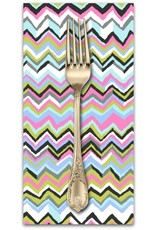 PD's Kaffe Fassett Collection Kaffe Collective, Zig Zag in Contrast, Dinner Napkin