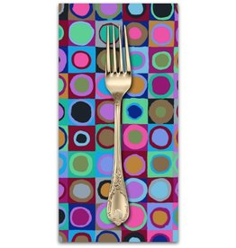 PD's Kaffe Fassett Collection Kaffe Collective 2019, Tiddlywinks in Blue, Dinner Napkin