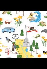 Windham Fabrics State Cotton, The Golden State of California, Fabric Half-Yards 49100