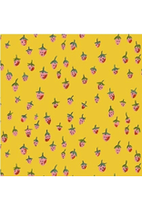Heather Ross Trixie, Field Strawberries in Gold, Fabric Half-Yards 50899