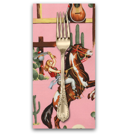 PD's Alexander Henry Collection Santa Fe, From the Hip in Pink, Dinner Napkin