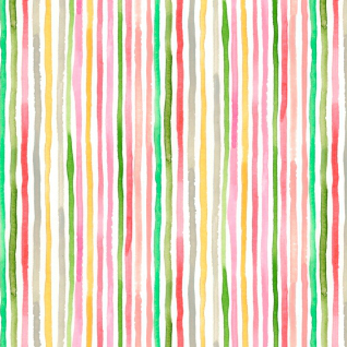 August Wren Daybreak, Multi Stripe in Multi, Fabric Half-Yards STELLA-DAW1169