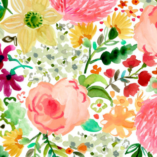 August Wren Daybreak, Flowers in Multi, Fabric Half-Yards STELLA-DAW1163