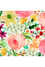 PD's August Wren Collection Daybreak, Flowers in Multi, Dinner Napkin