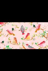 PD's August Wren Collection Daybreak, Birds on Branches in Blush, Dinner Napkin