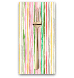 PD's August Wren Collection Daybreak, Multi Stripe in Multi, Dinner Napkin