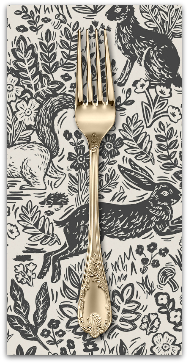 PD's Rifle Paper Co Collection Wildwood, Fable in Cream, Dinner Napkin