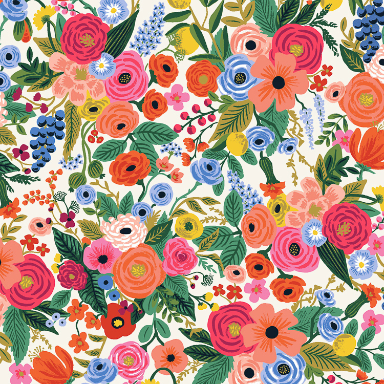 PD's Rifle Paper Co Collection Wildwood, Petite Garden Party in Cream, Dinner Napkin