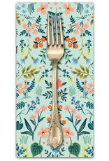 PD's Rifle Paper Co Collection Wildwood, Wildwood in Mint, Dinner Napkin
