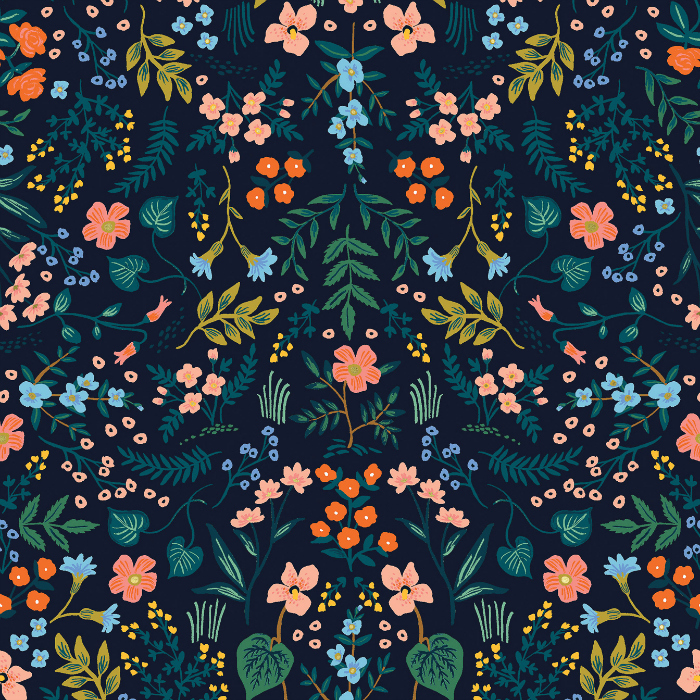 PD's Rifle Paper Co Collection Wildwood, Wildwood in Navy, Dinner Napkin