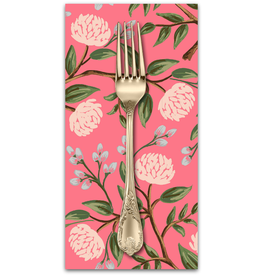 PD's Rifle Paper Co Collection Wildwood, Peonies in Pink, Dinner Napkin