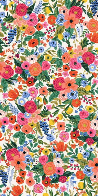Rifle Paper Co. Wildwood, Petite Garden Party in Cream, Fabric Half-Yards RP104-CR1