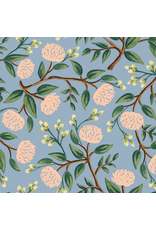 Rifle Paper Co. Wildwood, Peonies in Dusty Blue, Fabric Half-Yards RP102-DU3