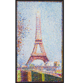 "Robert Kaufman ON SALE-Seurat, The Eiffel Tower 1889, Panel in Park, 24"" Fabric Panel SRKD-18475-205- Multi"