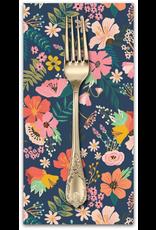 PD's Mia Charro Collection Floral Pets, Gardenara in Navy, Dinner Napkin
