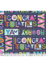 Maude Asbury Hip Hip Hooray, Best Wishes in Navy, Fabric Half-Yards 101.145.01.1 Birthday