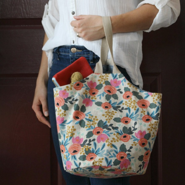 Sometimes Sewing Sometimes Sewing, Take-Along Tote Pattern in 2 sizes