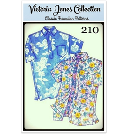 Victoria Jones Collection Victoria Jones Collection, Hawaiian Classics Men's Shirt 210 Sewing Pattern, Island Paradise