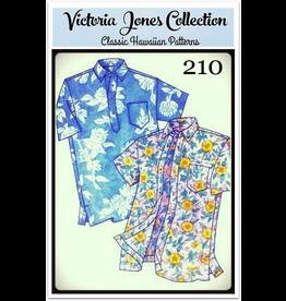 Victoria Jones Collection Victoria Jones Collection, Hawaiian Classics Men's Shirt 210 Sewing Pattern