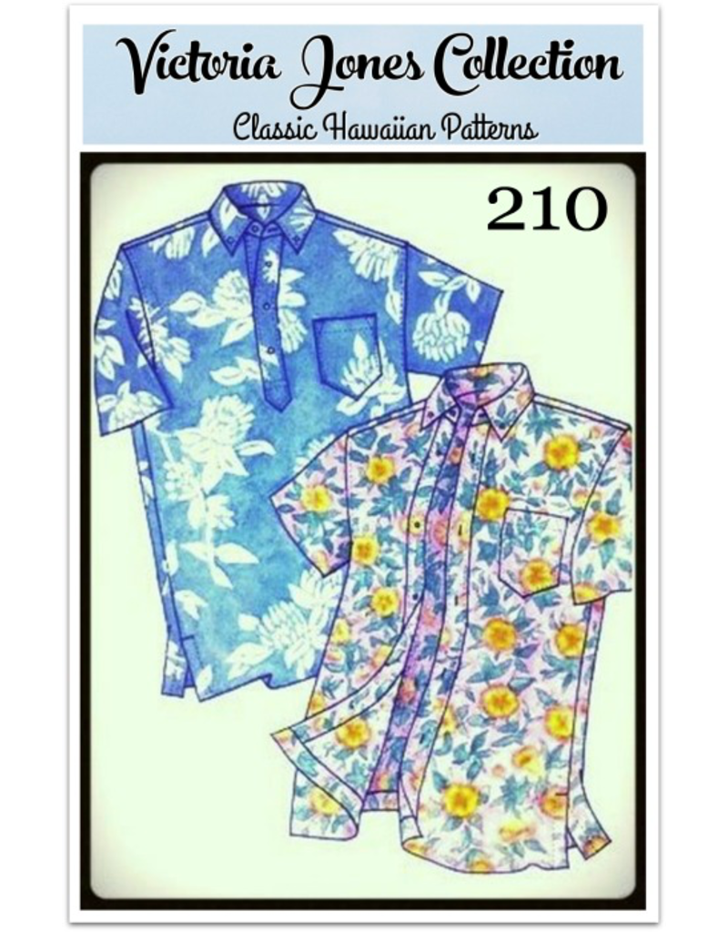 Victoria Jones Collection Victoria Jones Collection, Hawaiian Classics Men's Shirt 210 Sewing Pattern, Island Paradise