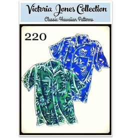 Victoria Jones Collection Victoria Jones Collection, Hawaiian Classics Men's Shirt 220 Sewing Pattern, Island Paradise