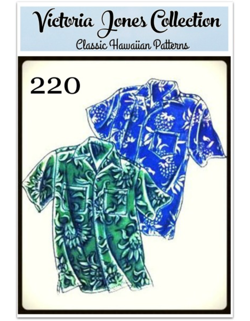 Victoria Jones Collection Victoria Jones Collection, Hawaiian Classics Men's Shirt 220 Sewing Pattern