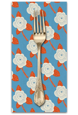 PD's Cotton + Steel Collection Kibori, Chico in Blue on Unbleached Cotton, Dinner Napkin