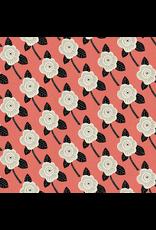 Cotton + Steel Kibori, Chico in Coral on Unbleached Cotton, Fabric Half-Yards CF101-CO3U