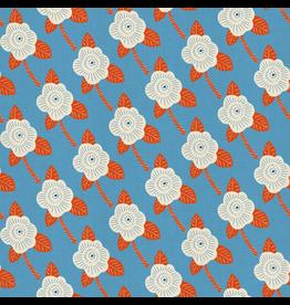 Cotton + Steel Kibori, Chico in Blue on Unbleached Cotton, Fabric Half-Yards CF101-CH5CM