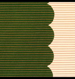 Carolyn Friedlander Harriot, Scallop Single Border in Basil, Fabric Half-Yards AFR-18202-53
