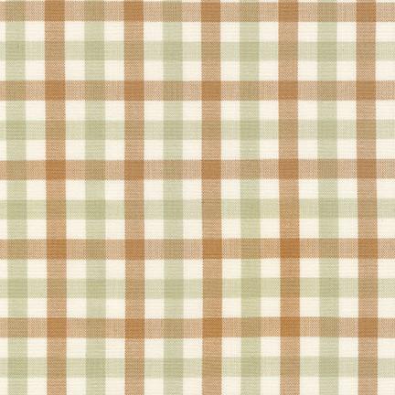 Carolyn Friedlander Harriot Yarn Dyed Woven, Double Check in Limestone, Fabric Half-Yards AFR-18112-340