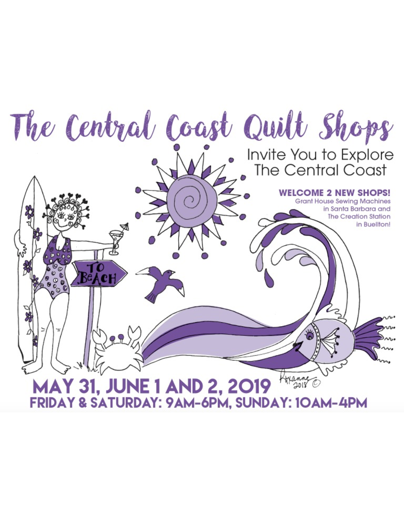 Picking Daisies 2019 Central Coast Quilt Shop Tour - Overview