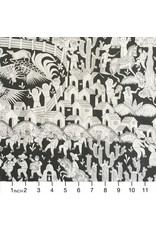 Alexander Henry Fabrics Folklorico, Puebla in Black, Fabric Half-Yards 8719 B