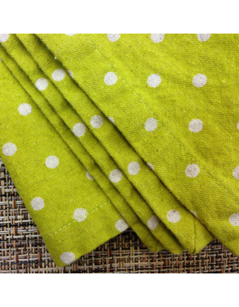 PD's Linen Blend Collection Linen Mochi Solid in Unbleached Natural Linen, Dinner Napkin