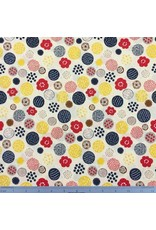 PD's Cosmo Japan Collection Cosmo Japan, Floral Circles in Cream, Dinner Napkin