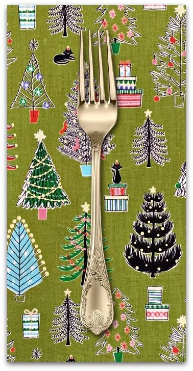 Christmas Collection Cosmo Japan, Christmas Trees in Green, Dinner Napkin