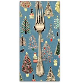 PD's Cosmo Japan Collection Cosmo Japan, Christmas Trees in Blue, Dinner Napkin