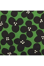 Kokka, Japan Canvas, Kokka Japan, Pop Flowers in Green, Fabric Half-Yards YK-56080-1