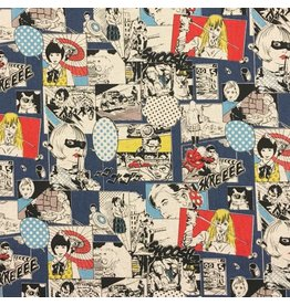 Cosmo, Japan Linen/Cotton Canvas, Cosmo Japan, Fighting Heros in Comic Multi, Fabric Half-Yards AP85807-1-B