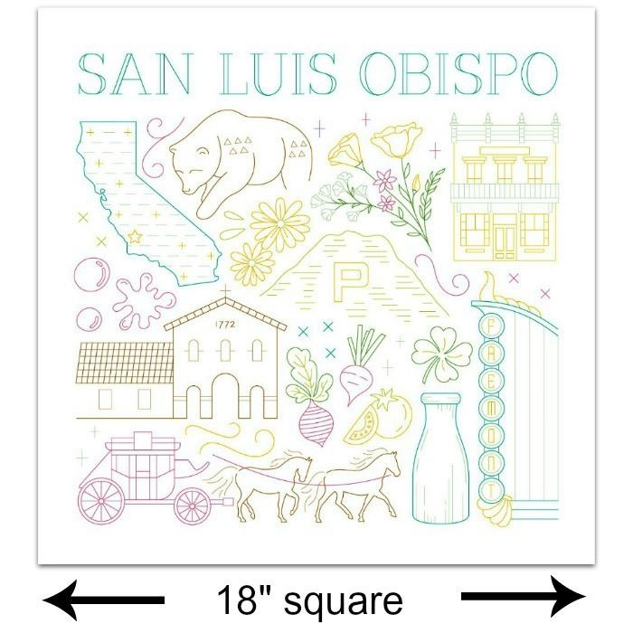 Picking Daisies SLO City Embroidery Sampler